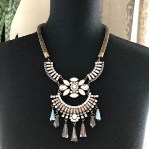 Antiqued Gold Egyptian Collar Statement Necklace